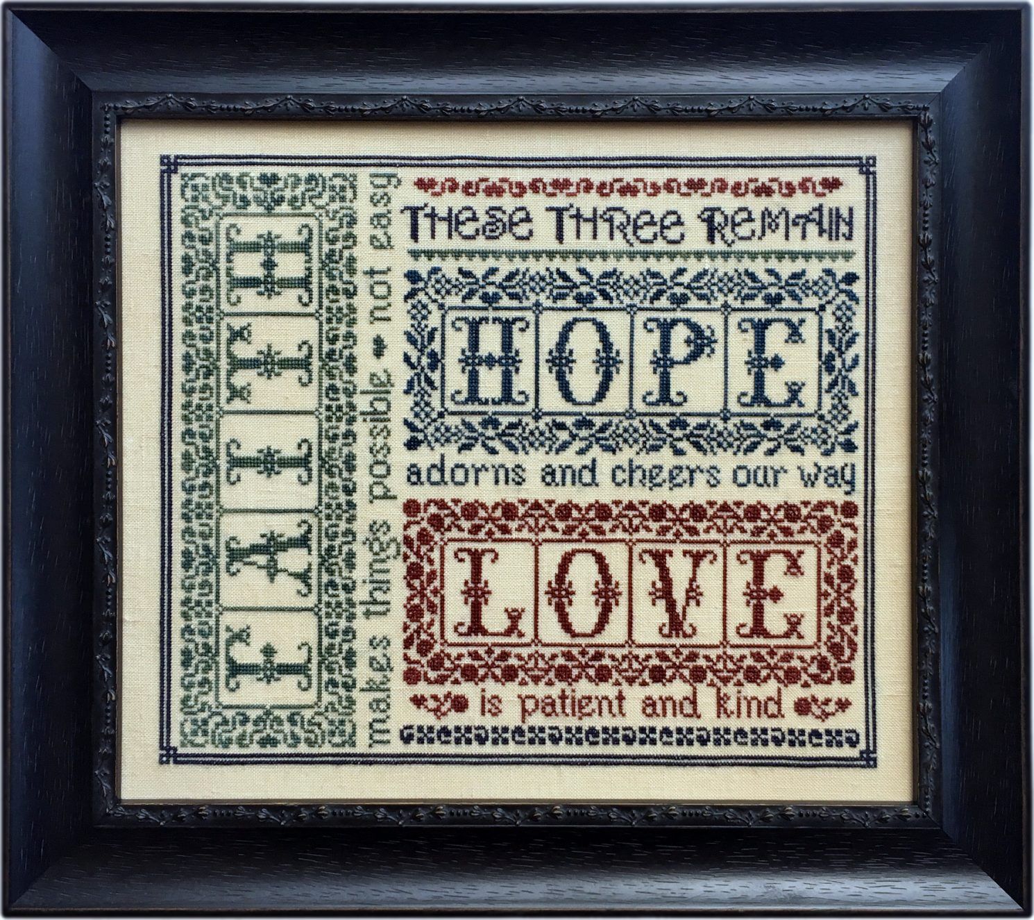 These Three Remain - Classic on linen